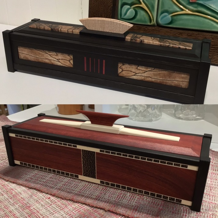 Parquetry boxes by David Solomon