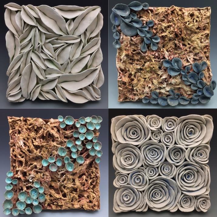 Sculptural cermaic tiles by Lauren Blakey