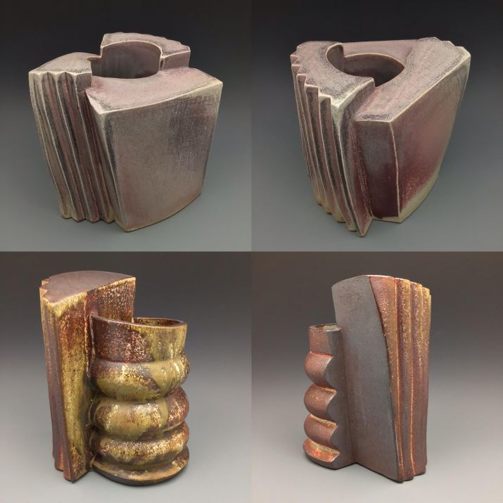 Bruce Cochrane's wood-fired stoneware constructions
